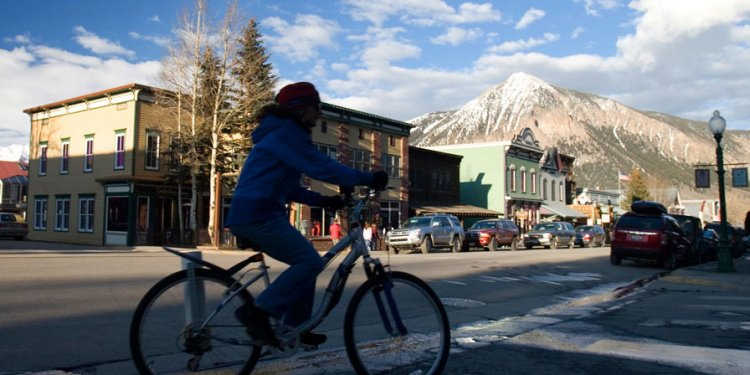 Riding through Crested Butte s