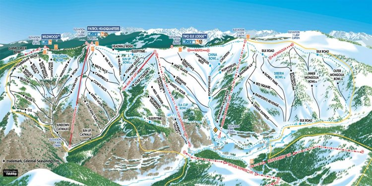 Vail Trail Map Ski Snowboard