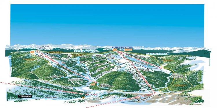 Vail Trail Map Ski Snowboard